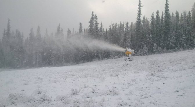 Nakiska Makes Snow, First in Canada