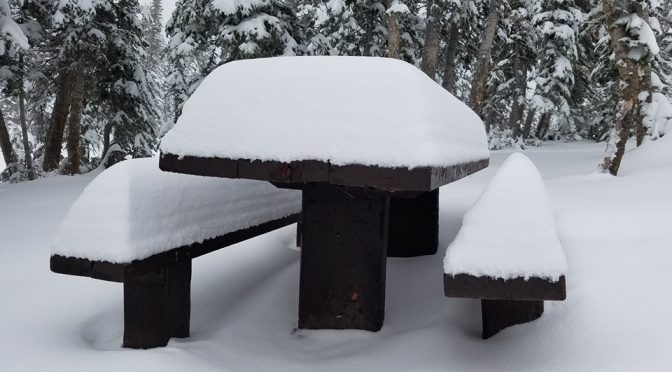 This early snowfall already accumulated in the Uinta Mountains of northern Utah, Sept. 24, 2016. (photo: FTO/Marc Guido)