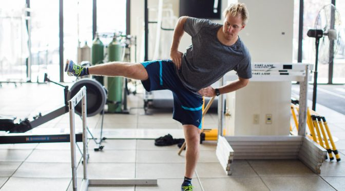 Ted Ligety works out at the U.S. Ski Team Center of Excellence in Park City, Utah. (photo: US Ski Team)