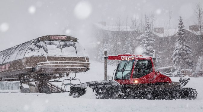 Jackson Hole Mountain Resort staff are hard at work today preparing for a Thursday opening. (photo: JHMR)