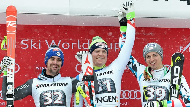 Friday's surprise men's combined podium in Wengen featured three skiers who had never before cracked the top-10. (photo: FIS/Agence Zoom)