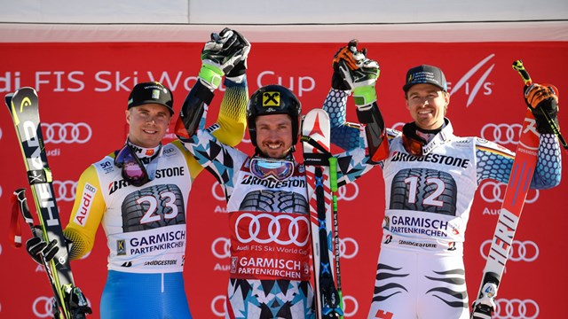 Hirscher Tops Garmisch GS by Wide Margin