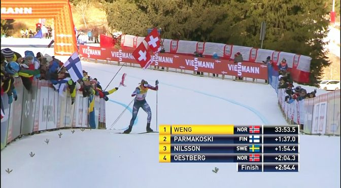 The U.S. Ski Team's Jessie Diggins climbs Alpe Cermis.
