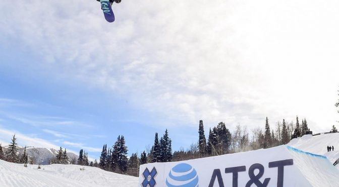 Julia Marino, of Westport, Conn., goes for X Games Gold on Saturday in Aspen. (photo: ESPN)