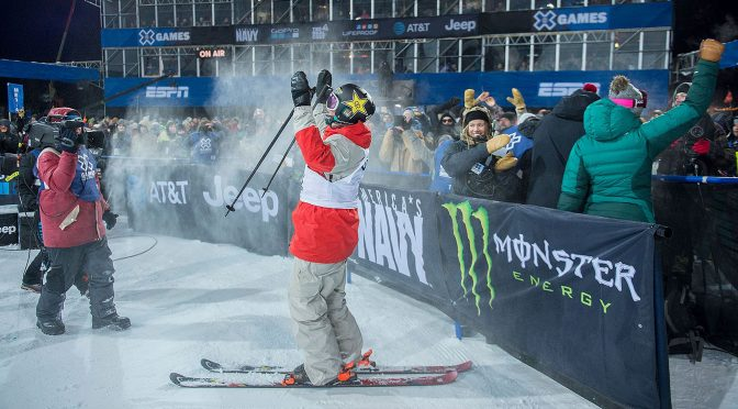 Aaron Blunck takes his first X Games Gold in Aspen. (photo: ESPN/Joshua Duplechian)