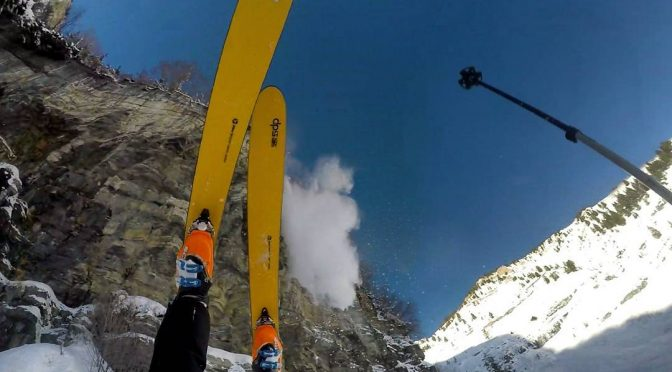 WATCH: Skier Accidentally Drops 150-foot Cliff…and Survives