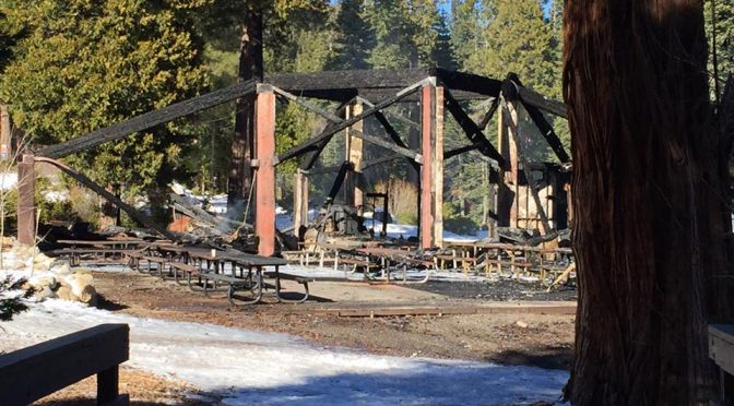 Homewood's South Lodge is a total loss. (photo: Facebook/Elissa Anderman Van Deursen)