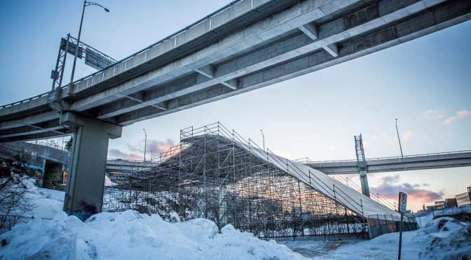 World Cup Big Air Ramp Takes Shape in Quebec