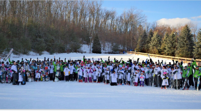 Wachusett Mountain Resort, Mass. topped the list of more than 80 U.S. Host Sites for the World's Largest Ski and Snowboard Lesson(s) held on 1/6/17. The resort tallied 168 participants, up from 107 last year. (photo: Learn to Ski and Snowboard Month)