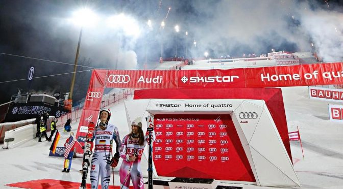 Shiffrin Wins Stockholm City Event; Hirscher Eliminated in First Round
