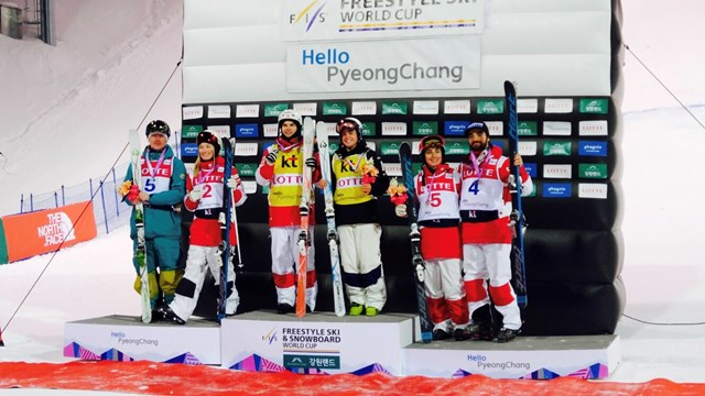 Four Canadian Moguls Skiers Land on Korean Podium