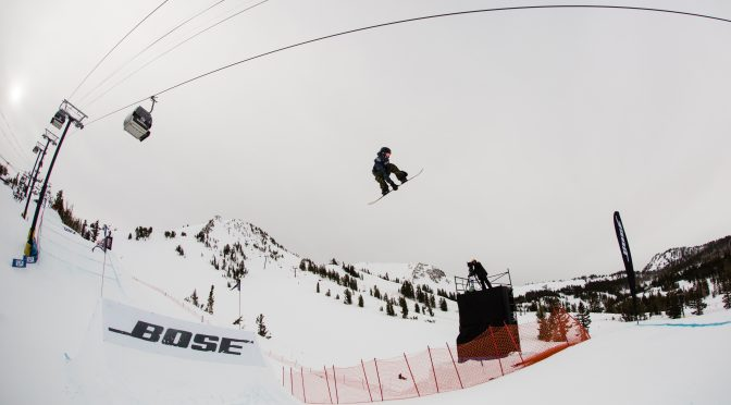 Saturday's slopestyle snowboarding finals at the 2017 Toyota U.S. Grand Prix at Mammoth Mountain, Calif. (photo: Sarah Brunson)