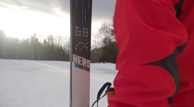 The Rossignol Hero Master ski embedded with the PIQ Robot display. (photo: PIQ Sport Intelligence)