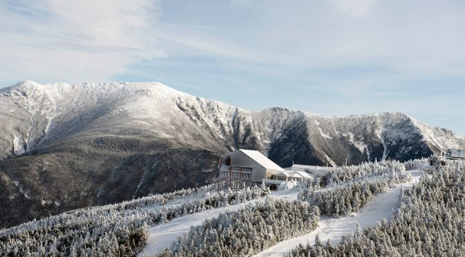 The Taft slalom trail is seen in the lower right of this photo of the Cannon Mountain summit. (file photo: Cannon Mountain)