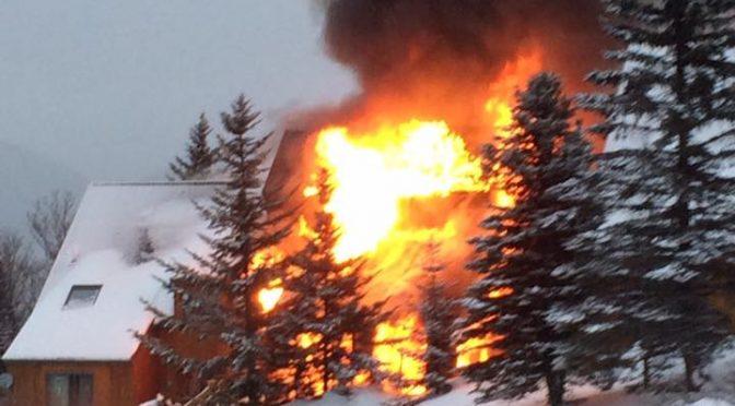 Fire Destroys Condos at Saddleback