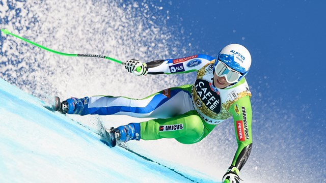 Slovenia's Ilka Stuhec wins Saturday's Crans-Montana super G. (photo: FIS/Agence Zoom)