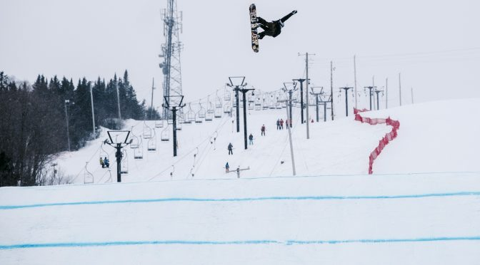 Flat light at Quebec's Stoneham Mountain Resort troubled competitors in World Cup slopestyle. (photo: Renaud Philippe)