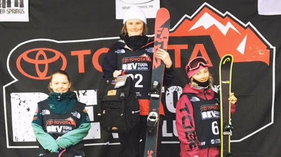 Claire Sweeps Rev Tour Slopestyle