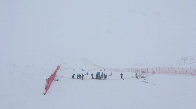 Stormy weather today has postponed the World Championships PGS and PSL in Sierra Nevada, Spain. (photo: FIS)