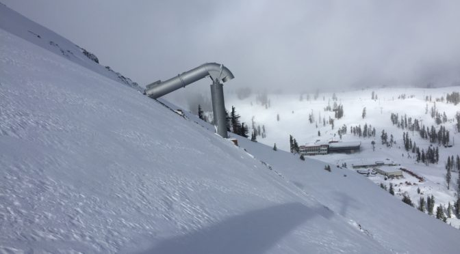 "The Gazex ""Dragon"" on Squaw Valley's Headwall. (photo: Squaw Valley Alpine Meadows)"