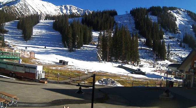 Arapahoe Basin was nearly ready to go late Tuesday afternoon. (photo: Arapahoe Basin)