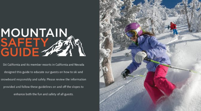 Ski California Releases Inaugural Mountain Safety Guide