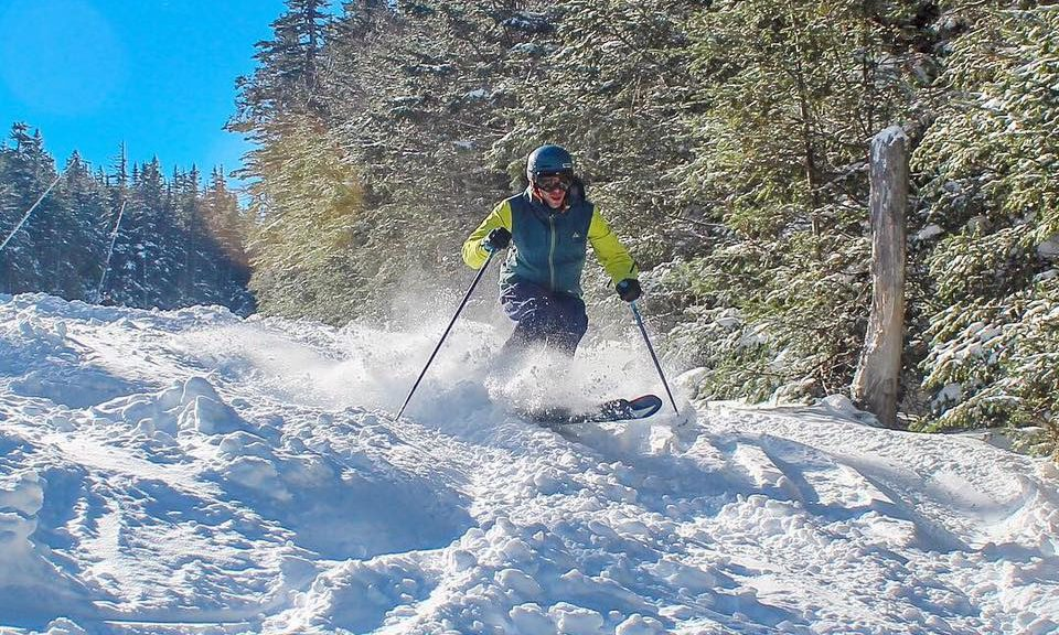 Skiers enjoy fresh snow on Saturday at Wildcat Mountain. (photo: Wildcat Mountain Ski Area)