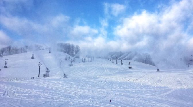 Crystal Mountain has been blowing snow whenever possible for their Thanksgiving opening day. (photo: Crystal Mountain Resort)
