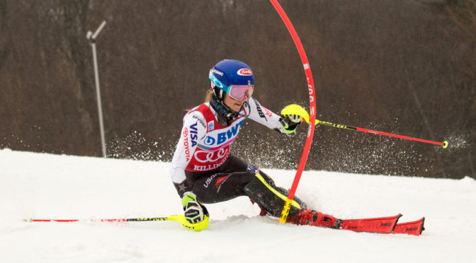 Shiffrin Wins Third Straight Killington Slalom